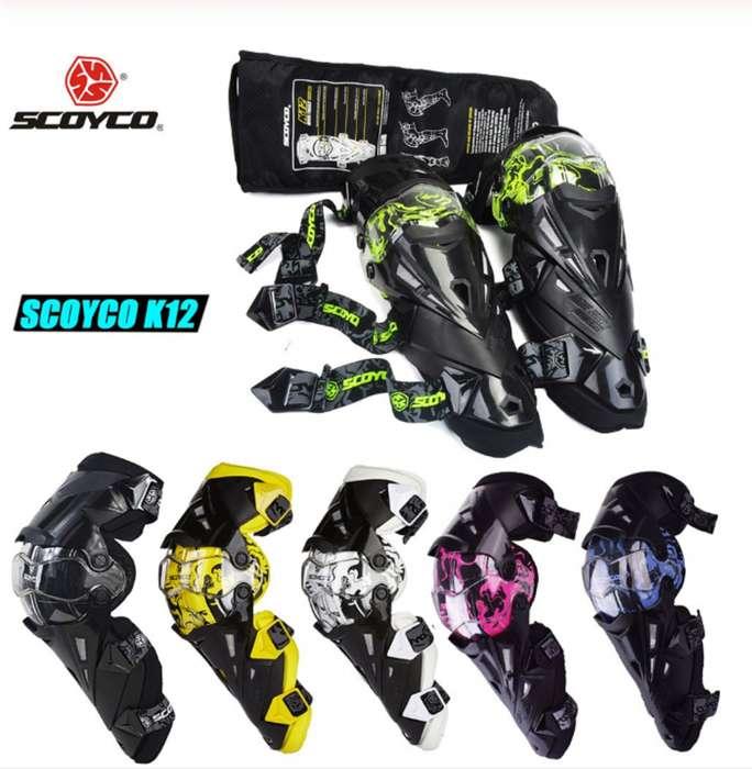 Rodilleras Scoyco K12 para motocilcista