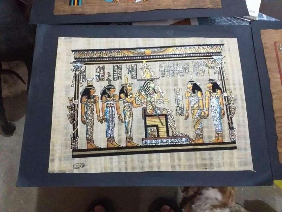 Pinturas egipcias en papiro originales