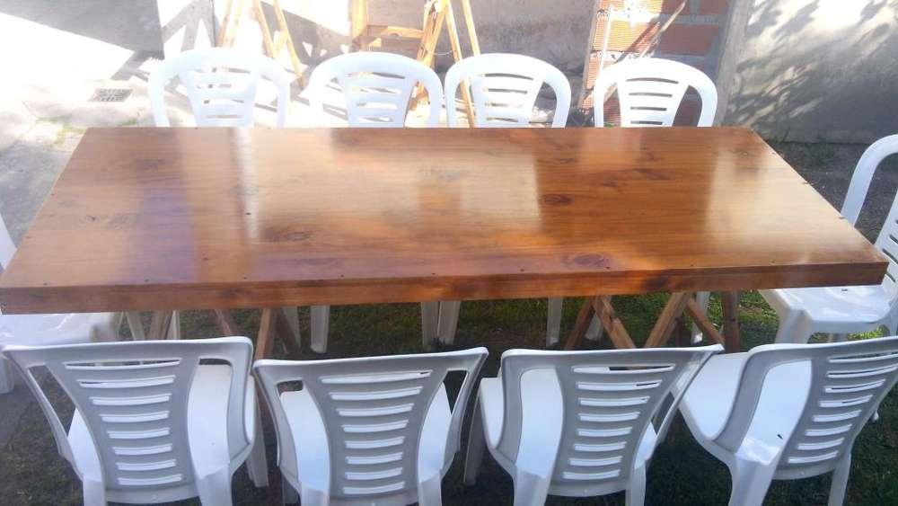 alquiler mesas sillas freezer para tus fiestas