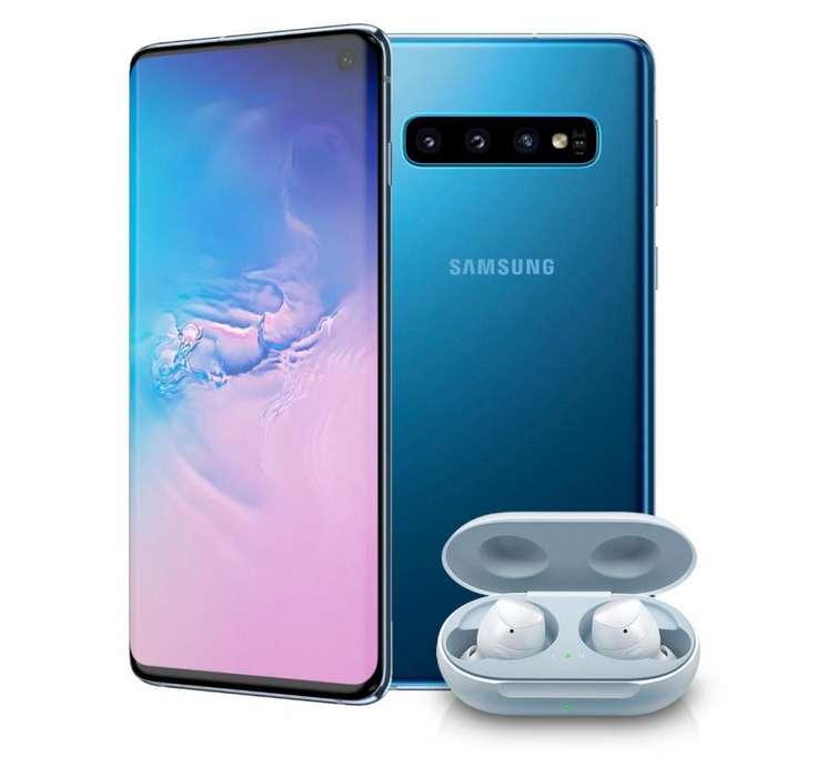 Celular Samsung Galaxy S10 Plus Ds 4g Negro, Azul Mas Galaxy Buds