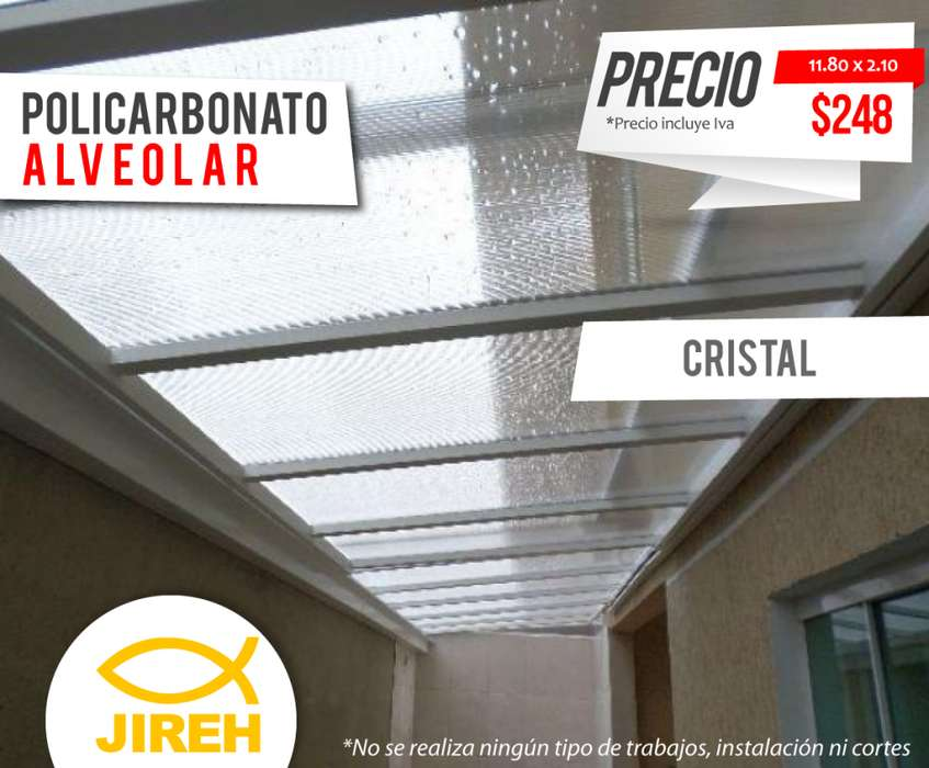 Policarbonato Jireh Cristal 8mm en Guayaquil, Techos, Alucobond, Acrílico, Cielo raso PVC