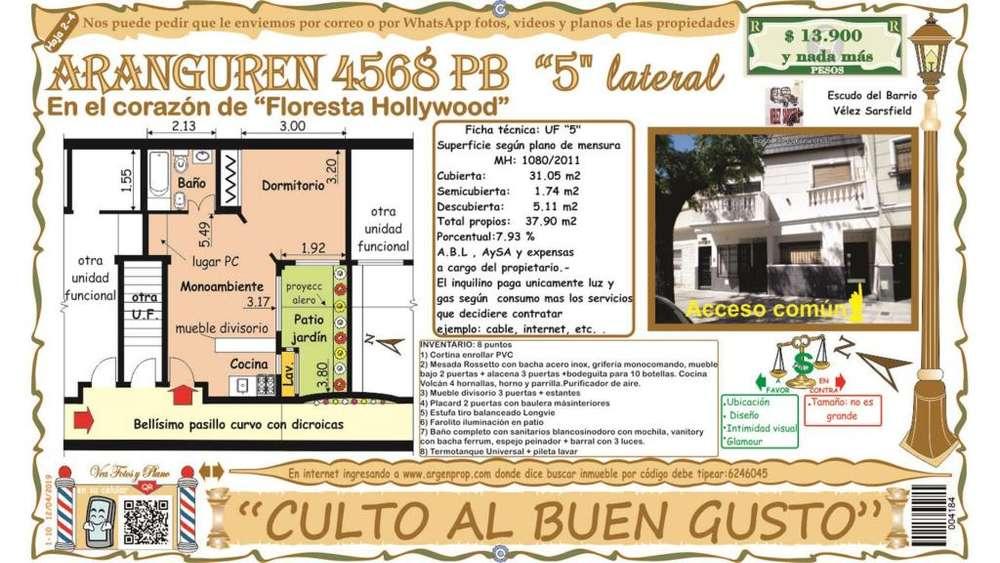 Aranguren 4500 - 13.900 - Tipo casa PH Alquiler