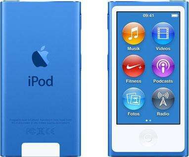 <strong>ipod</strong> nano 7 azul nuevo, con accesorios y garantía de 1 año