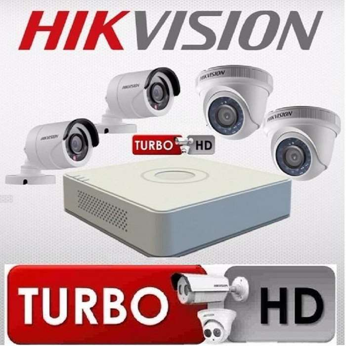 CAMARAS DE SEGURIDAD HD 1MP HIKVISION Kit 4 DAHUA