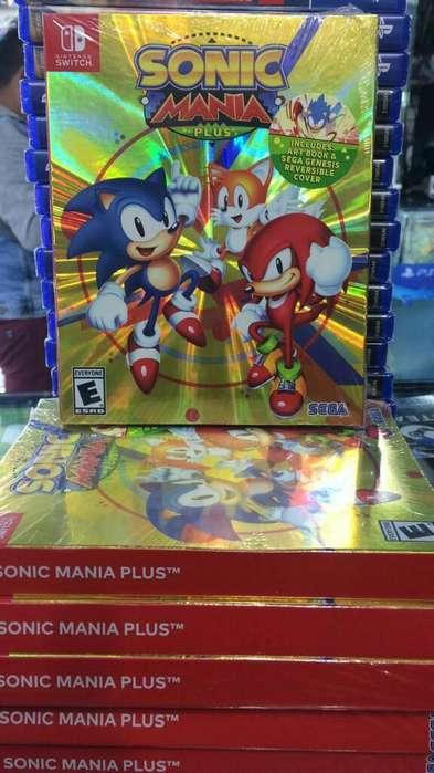 Sonic Mania Plus Nintendo Switch Nuevo Sellado Stock