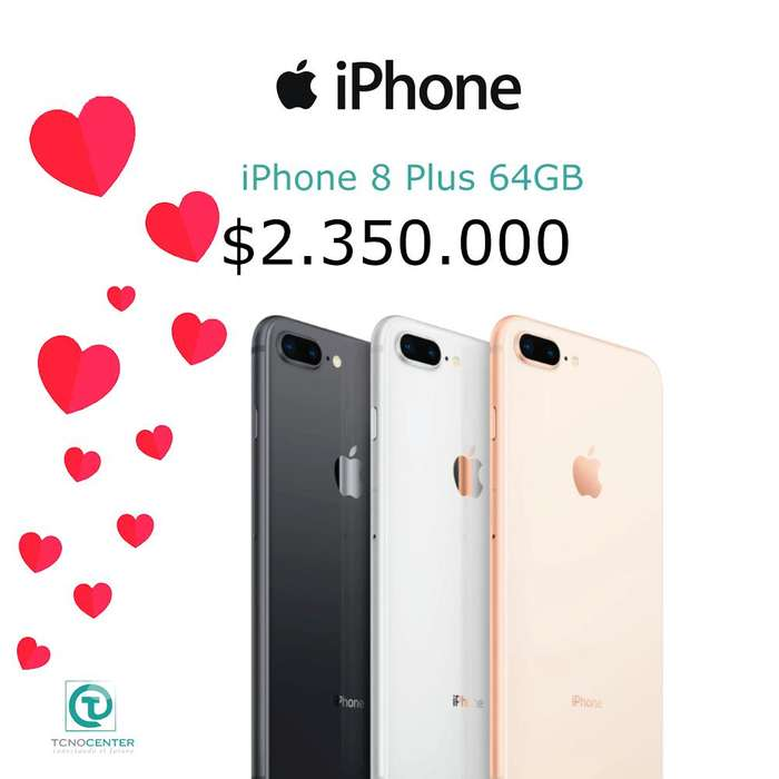 iPhone 8 Plus 64GB Doble <strong>camara</strong>, GARANTÍA 1 AÑO DIRECTA Apple, TIENDA FÍSICA, nuevos, sellados, libres.