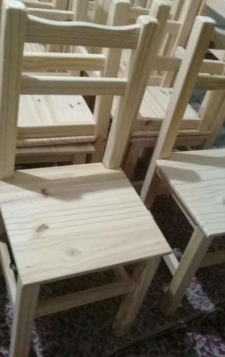 <strong>sillas</strong> en Madera de Pino Nuevas