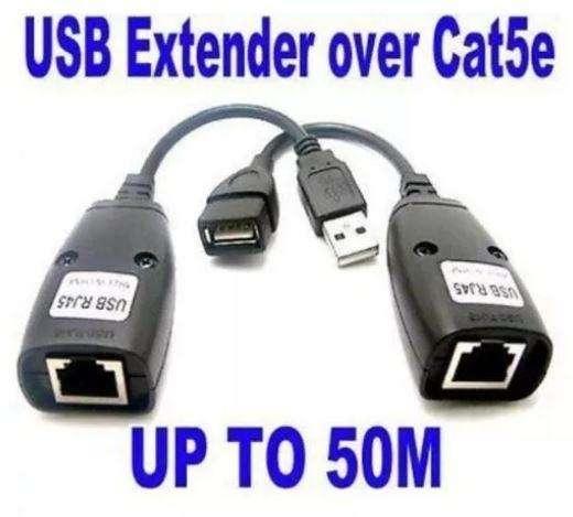 Extensor Usb Utp A Cable Rj45 Ethernet Cat5e Cat6 40m
