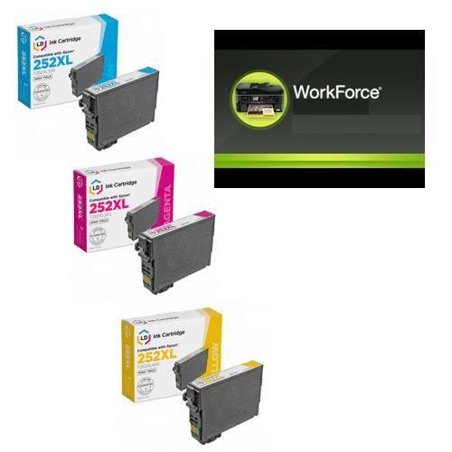 Cartuchos de Tinta Color LD Epson 252XL220 High Yield Alto Rendimiento C/Y/M