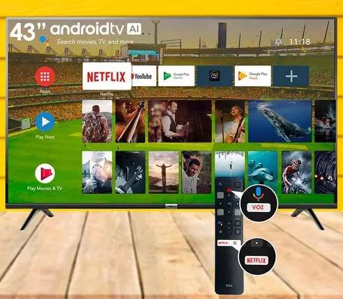 TV TCL L49S6500FS ANDROID FULL HD HDR BT MANDO VOZ 49