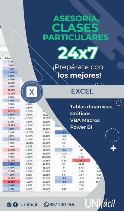 PROFESOR CLASES PARTICULARES Y CURSOS DE EXCEL VBA MACRO POWER BI POWER PIVOT POWER QUERY DAX BASICO INTERMEDIO AVANZADO
