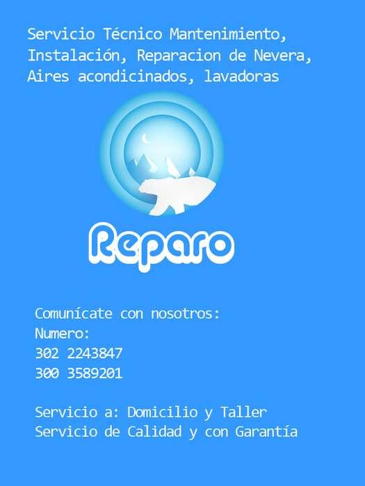 Servicio técnico especialista en Mantenimiento, instalación, reparación de neveras Aires acondicionados y lavadoras