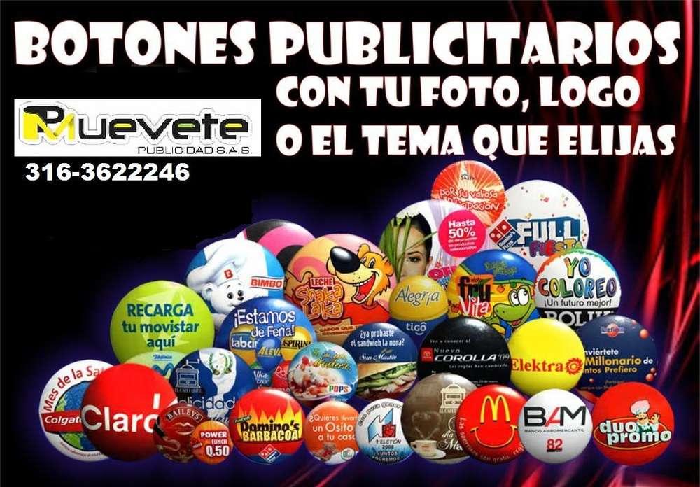 botones publicitarios entrega inmediata 3163622246