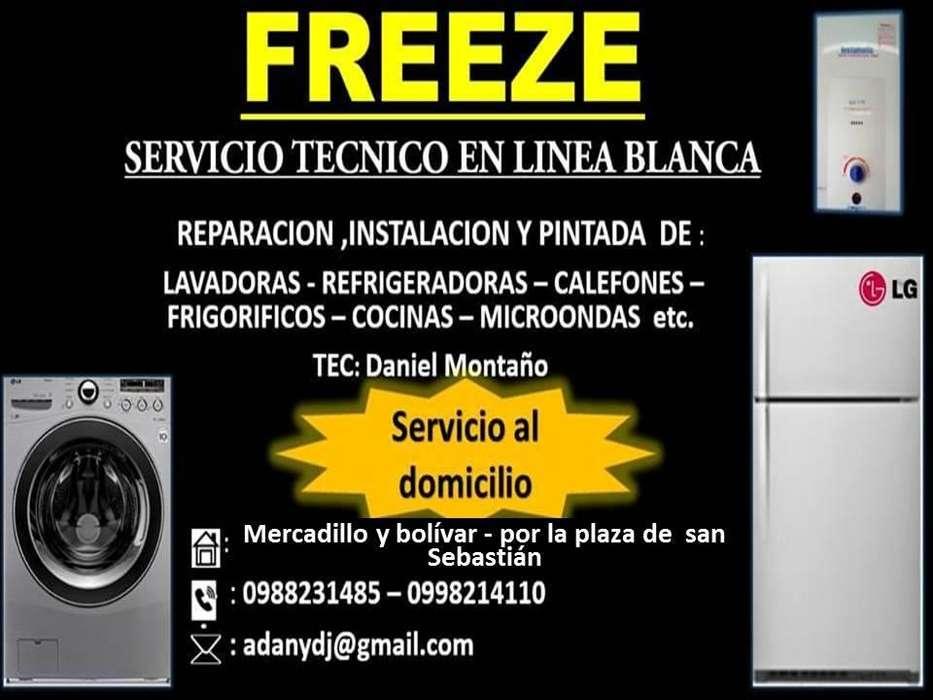 servicio tecnico de reparacion de refrigeradoras, lavadoras de ropa, cocinas, calefoness