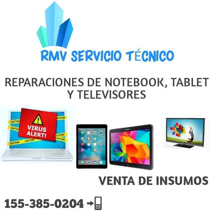 Servicio técnico NOTEBOOK, TABLET, TELEVISORES CASEROS RMV SERVICIO TÉCNICO.