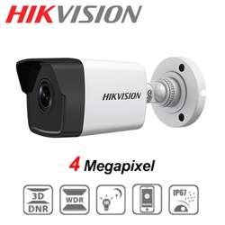 CAMARA IP DE VIGILANCIA HD TIPO BALA HIKVISION DS-2CD1043G0-I 4MP 2.8mm IP67 DIA Y NOCHE PoE