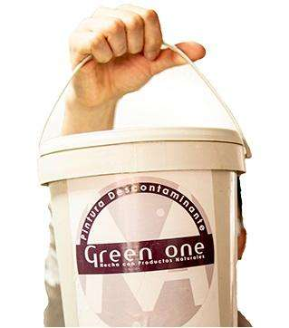 Green One <strong>pintura</strong> Natural que Descontamina el Aire 1 Gal. Blanca Exteriores