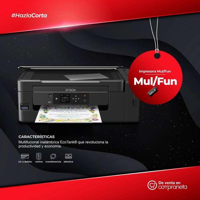 Impresora Mul/Fun Tinta Cont WiFi L395