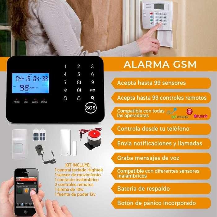 ALARMA GSM INALAMBRICA alamar antirobo para casa sensor de movimiento mensajes al celular