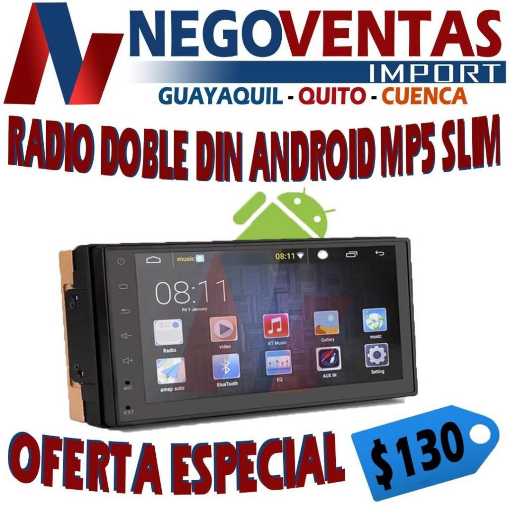 RADIO ANDROID MP5 DE OFERTA CON WIFI , GPS , BLUETOOTH , USB , RADIO FULL TOUCH MIRROW LINK
