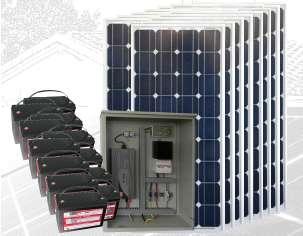 PLANTA ENERGÍA SOLAR 2400Wp PS2400-48M1800-3000P