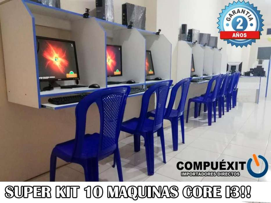 Cyber 10 Máquinas Core I3 Envió Gratis Regalo!!