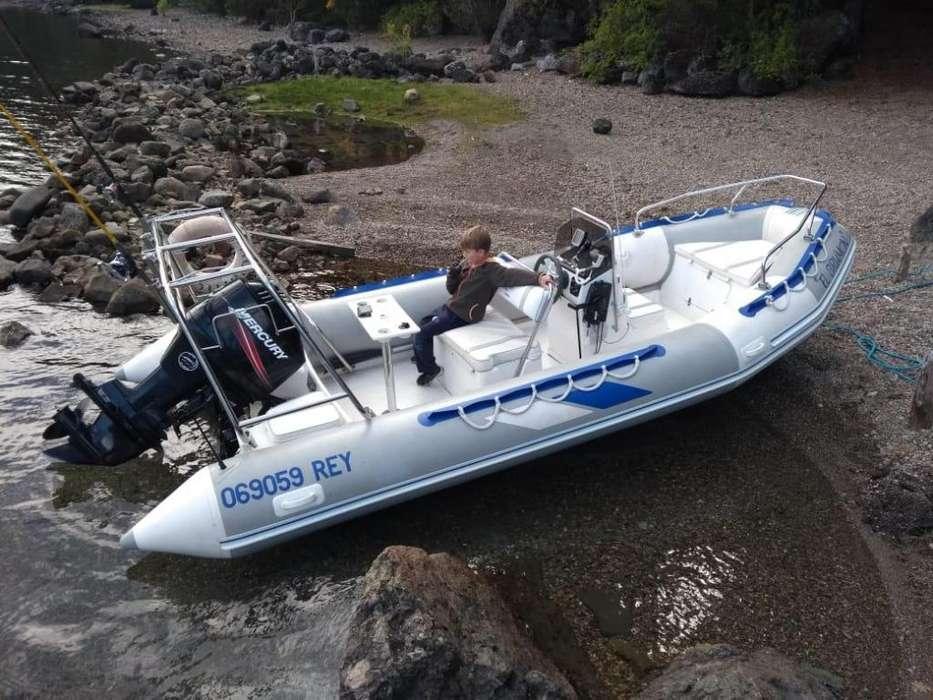 semirrigido sea runner 5 50m, motor mercury 90