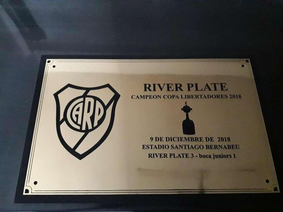 Placa River Campeon Grabado Laser No Te Lo Pierdas!!!!
