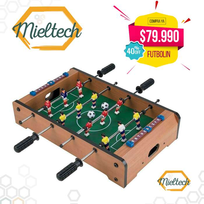 futbolin en madera futbolito de mesa para jugar football
