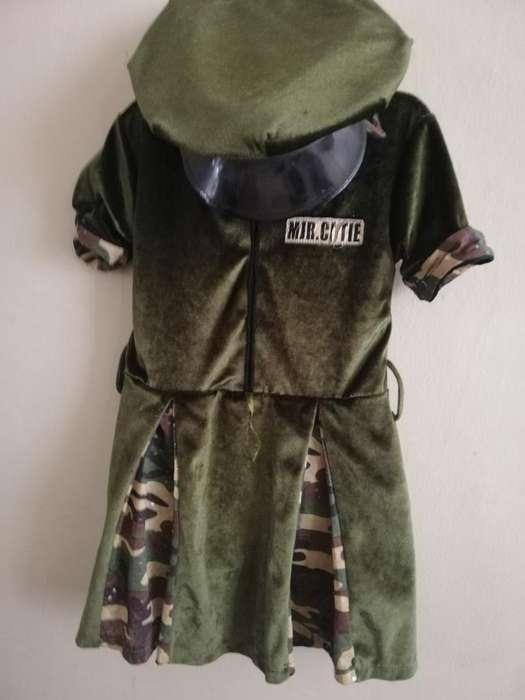 Disfraz de Policía Americana de Niña