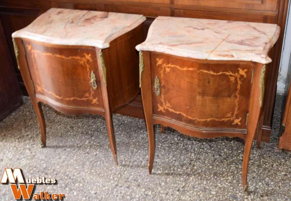 2 Mesas de luz, estilo francés Luis XV 299 las 2
