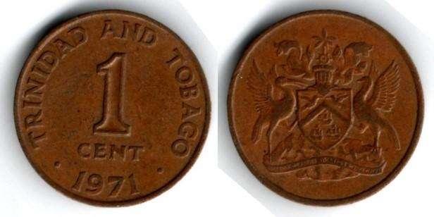 TRINIDAD Y TOBAGO. MONEDA. 1 CENT. 1971. KM 1. 10,6 M UNIDADES. ESTADO 7 DE 10. VALOR 400