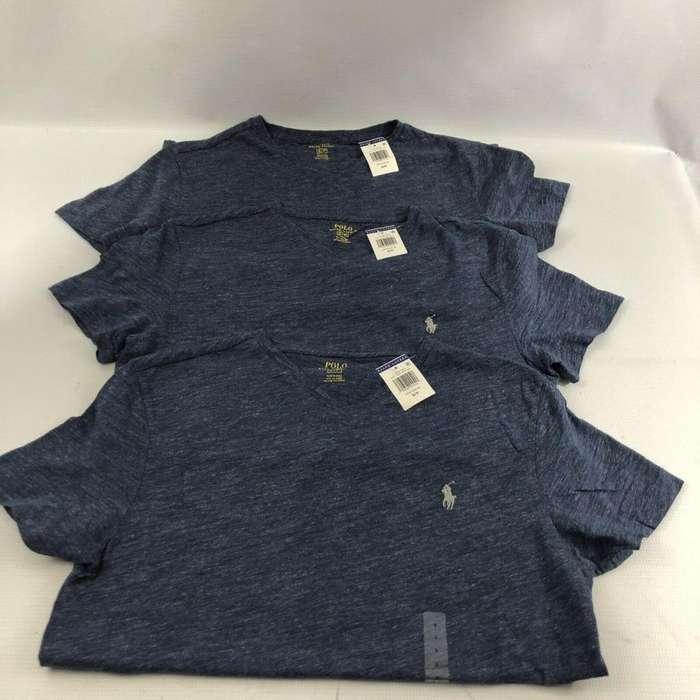 Camiseta Polo Ralph Lauren N Neck/ Small -azul.