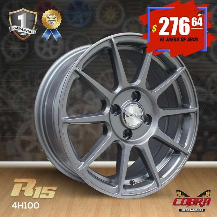Aros Rin 15 JUEGO* Chevrolet Aveo Family Hiunday Honda