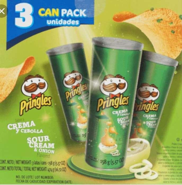 Papas Pringles Caja X 3 Tubos