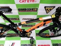 bicicleta para adulto aro rin 26 con cuadro aluminio , cambios de palanca, suspension , frenos de disco montañera
