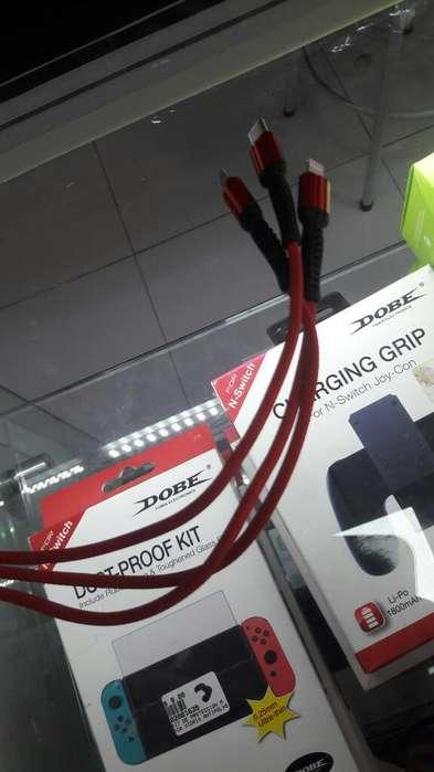 Cable Usb Reforzado de 3 Puntas