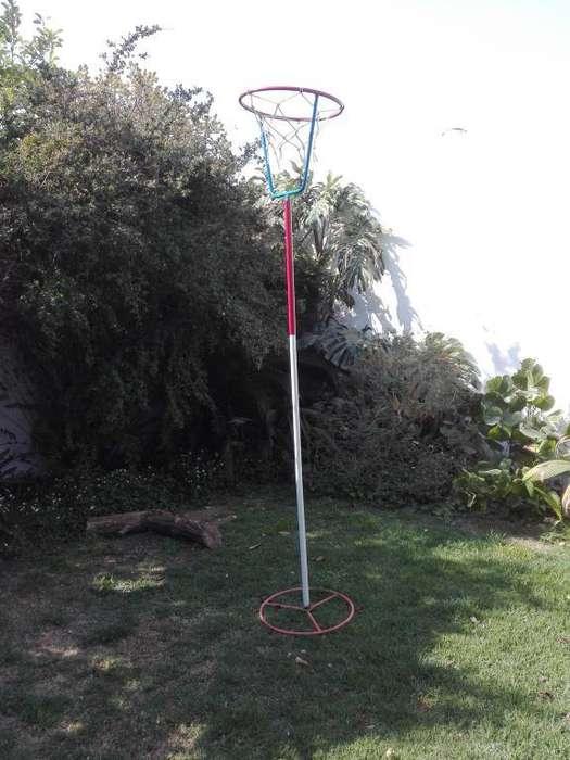 ARO DE BASQUET INFANTIL 2.50 m alto y diámetro 0.46 m