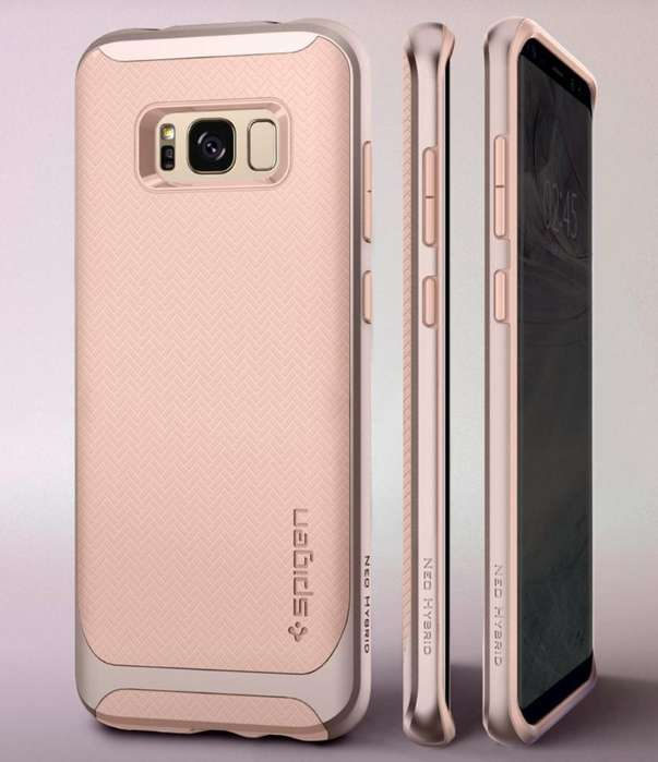 Carcasa Samsung S8 Plus, Spigen, Rosa