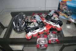 Patines Hot Wheels T. 31-34/ 5 Años Niño