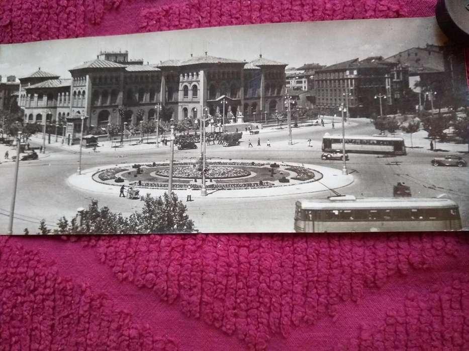 Postal Antigua Zaragoza plaza paraiso facu medcina 9X22,5