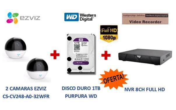 KIT INALAMBRICO FULL HD NVR 8CH Y 4 CAMARAS FULL HD