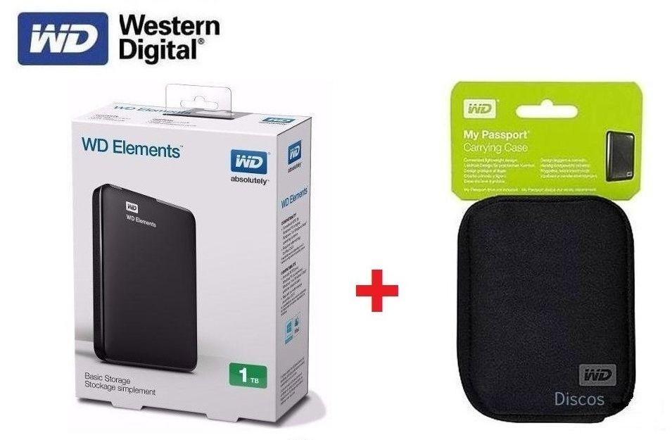 Disco Duro Externo 1tb Western Digital Elements 3.0   FUNDA