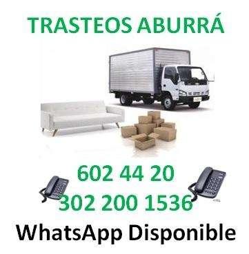 Mudanzas Tel: 602 4420 Trasteos Aburrá. Acarreos en Antioquia.