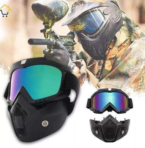 Mascara Careta Paintball Airsoft Moto Cross Lente Polarisado