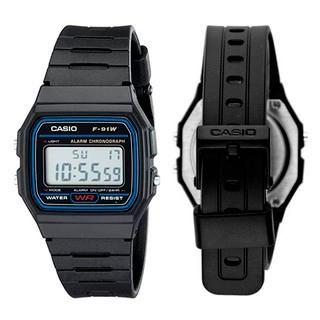 84c6c9f2dcc6 Reloj Casio Negro F91W Old School Retro Original Iluminator Unisex ...
