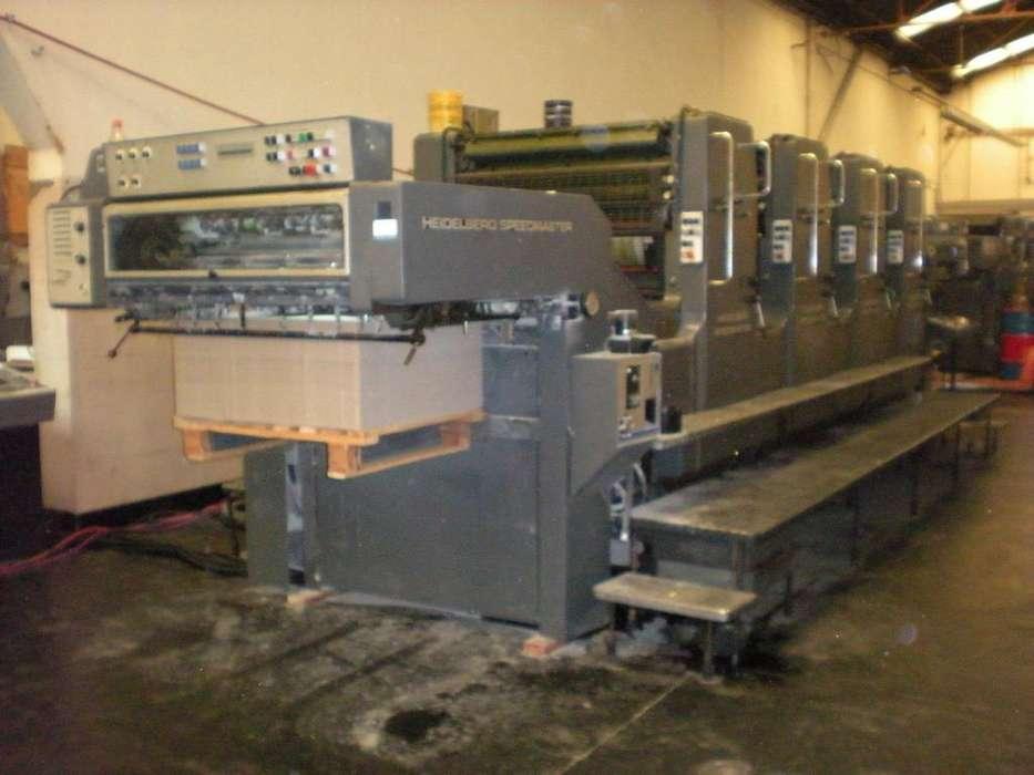 Impresora Heidelberg sm102 4 colores año 1991