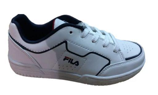 nuevo concepto 9cb6e f204c Tenis Fila Colegio Colegial Blanco Originales Niño Promocion ...