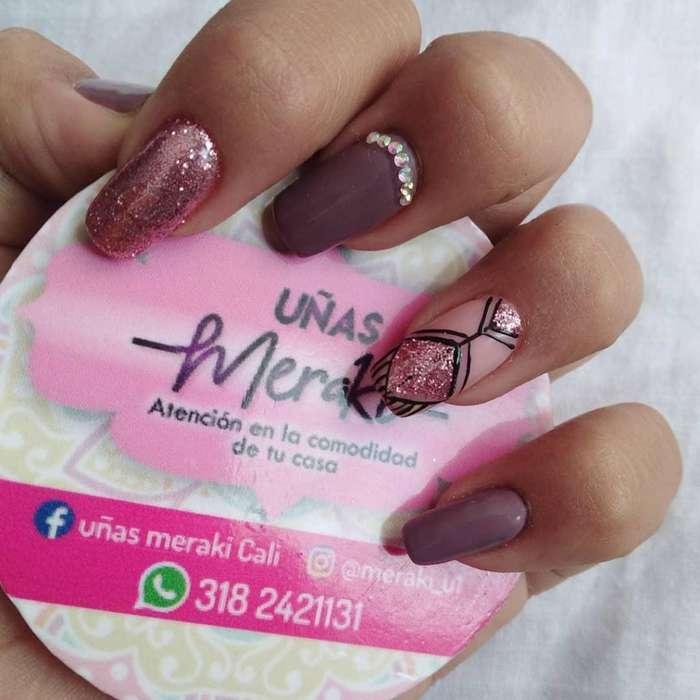 manicurista semipermanente uñas acrilicas gel domicilio cali manicure