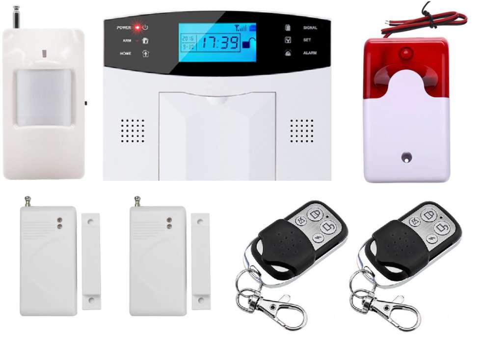 En Bogotá: Alarma Inalámbrica GSM para casa, negocio o local, con 3 sensores y 2 controles remoto.